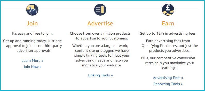 Amazon Affiliate Program screenshot