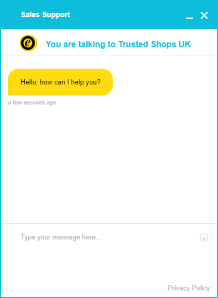Trusted Shops chatbox