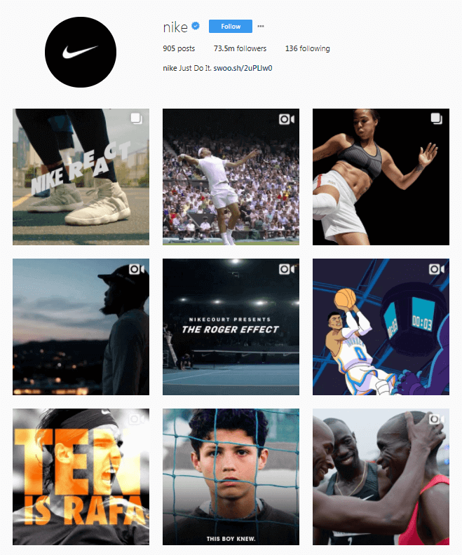 Nike_Instagram_Page