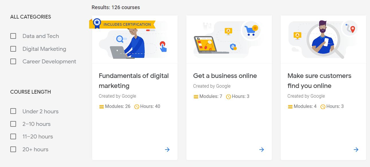 Google digital garage screenshot